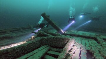 DDS Divers exploring the R.H. Rae off Picton in Lake Ontario