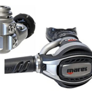 mares abyss adj 62x regulator features a small rugged compact first stage with an all metal abyss second stage with adjustable breathing knob grey and black