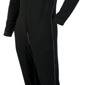 DUI DuoTherm Jumpsuit 150 a black front entry drysuit underwear 150 grams of weight for warm water